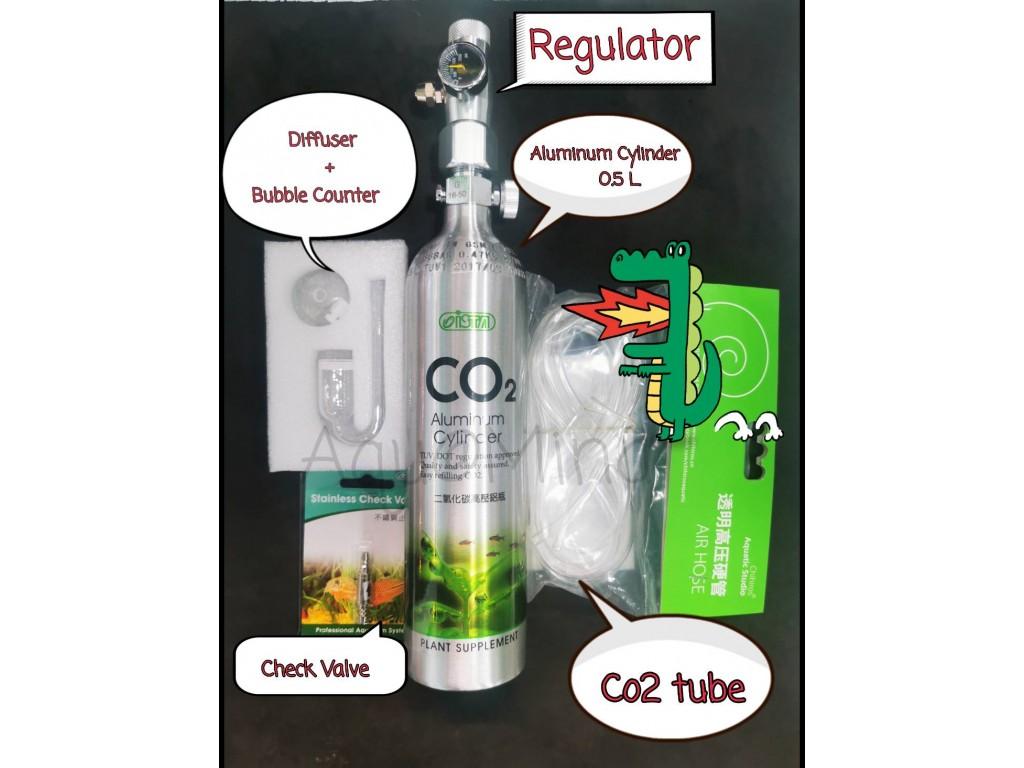 ชุดถัง CO2 พร้อมใช้ขนาดเล็ก 0.5L (ชุด A)