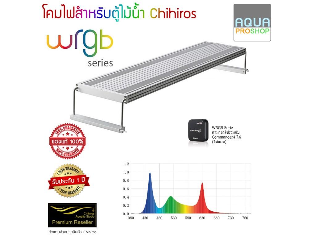 โคมไฟ Chihiros WRGB60 สำหรับตู้ไม้น้ำขนาด 60-80ซม. (สีเงิน)